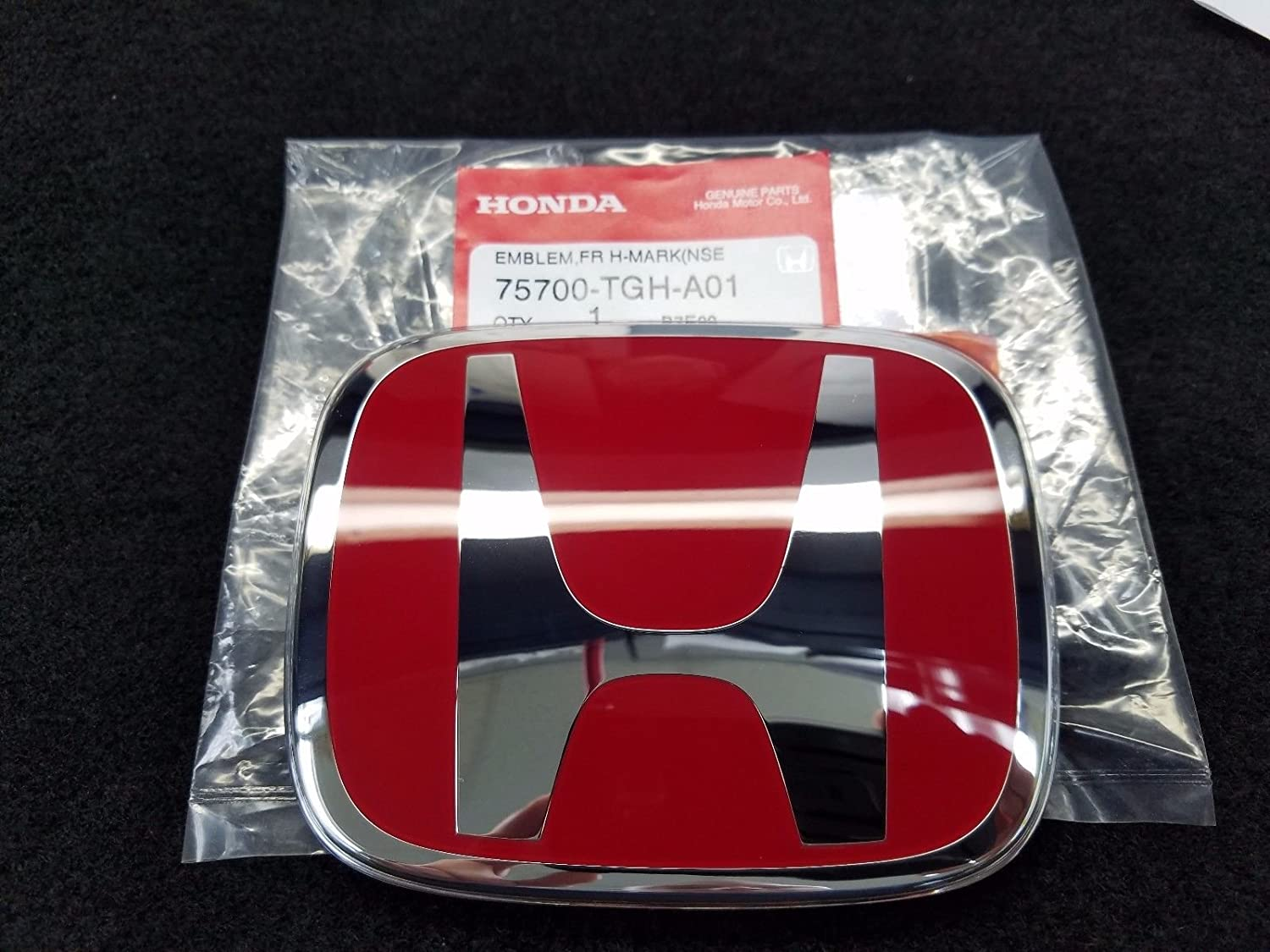 Hot Sale SI Chrome Red Grill Emblem Decal Logo Badge S-i for Front Civic HONDA