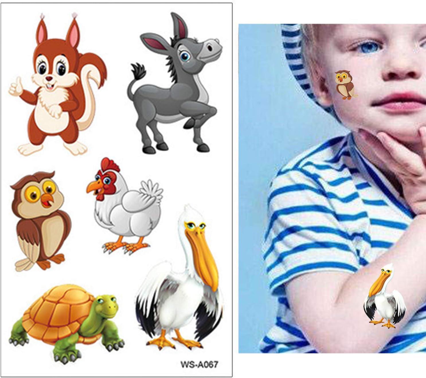 SZSMART Tiere Tempor/äre Tattoos Kinder B/är Tattoos Set Panda Kindertatoo Fake Tattoos Kindertatoo Kindergeburtstag Party Mitgebsel Geschenk Party Lieferungen f/ür Junge M/ädchen