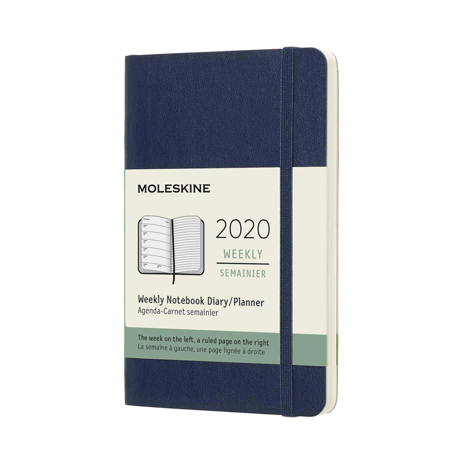 Calendario Serie A 2020 12.Moleskine Classic 12 Month 2020 Weekly Planner Soft Cover Pocket 3 5 X 5 5 Sapphire Blue