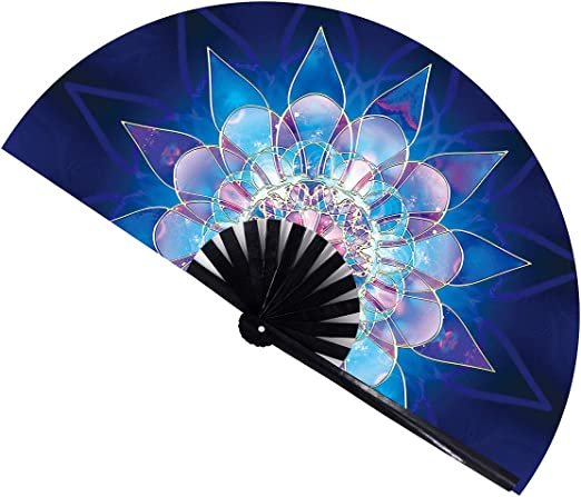 Multi Color Chinease//Japanese Folding Nylon-Cloth Hand Fan Amajiji Large Peacock Folding Fan Hand Folding Fans for Women//Men Hand Fan Festival Gift Fan Craft fan Folding Fan Dance Fan