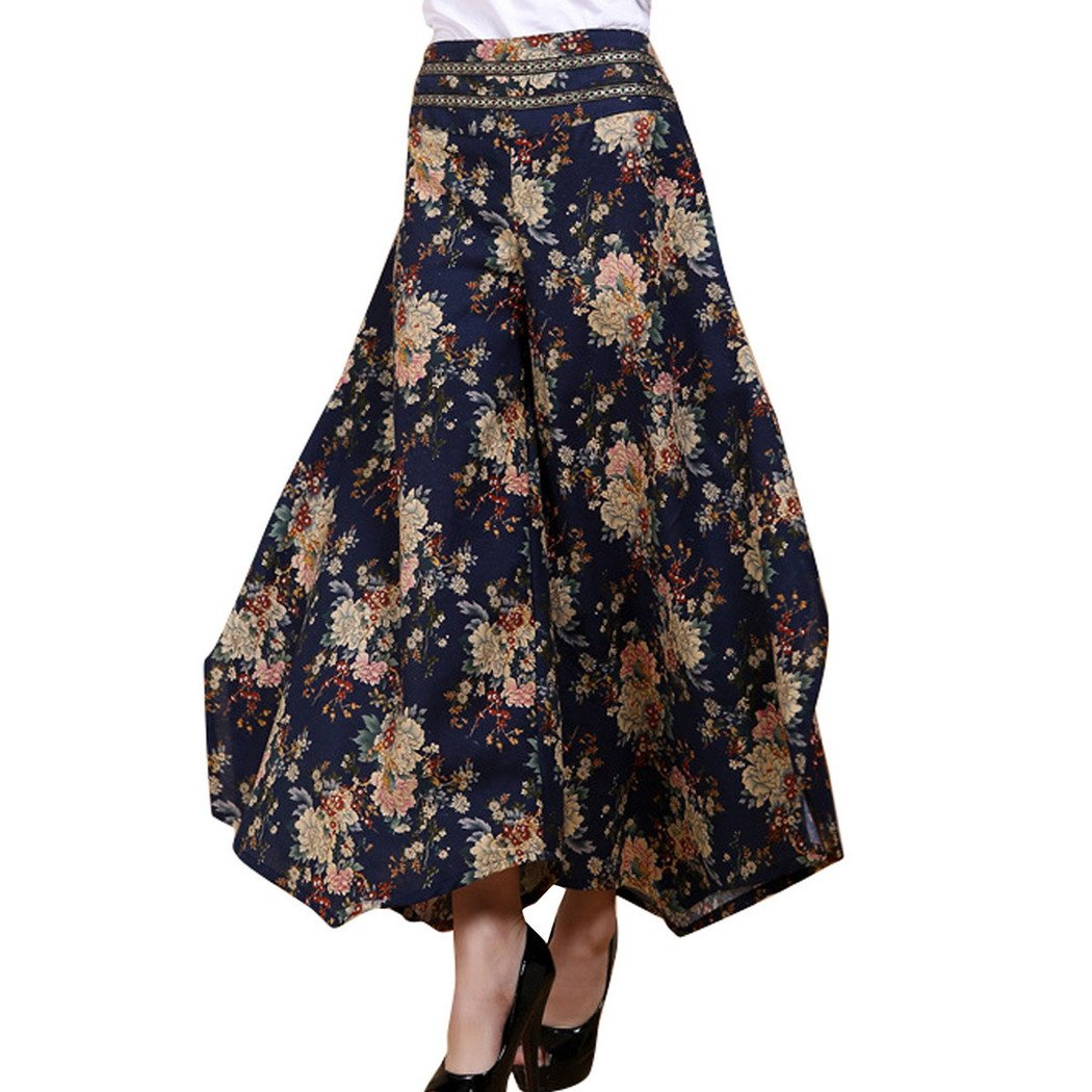 Aivtalk Womens Casual Pants Wide Leg Long Loose Trousers Culottes Pantskirt LIANTANG LTFS0815