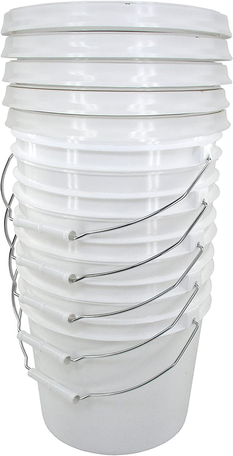 White 2 Gallon Bucket with Gamma Seal Lid (5)