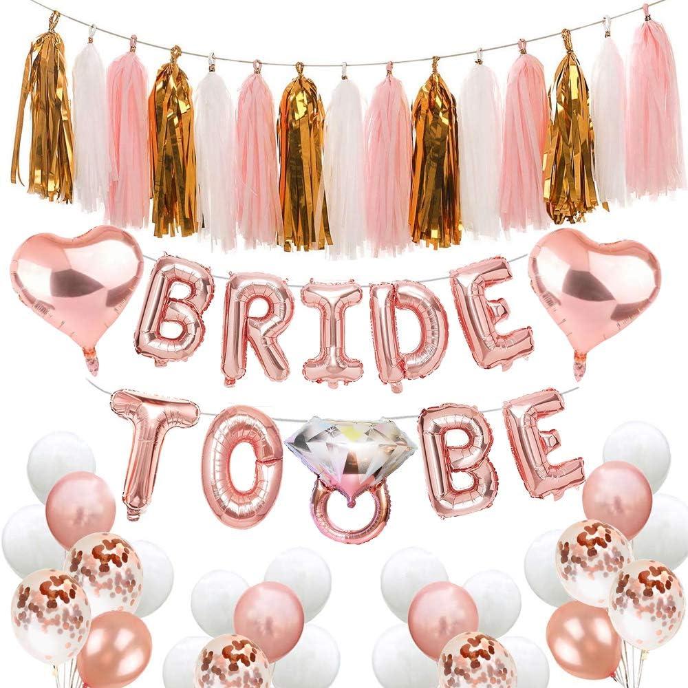 Rose Gold Script Letter Balloons Bride Balloons Rose Gold Bride Balloon Banner Rose Gold Bachelorette Balloons Bridal Shower Banner
