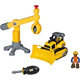 Toy State Caterpillar CAT Junior Operator Work Site - Machine Pairs Dump Bulldozer/Crane Construction Vehicle