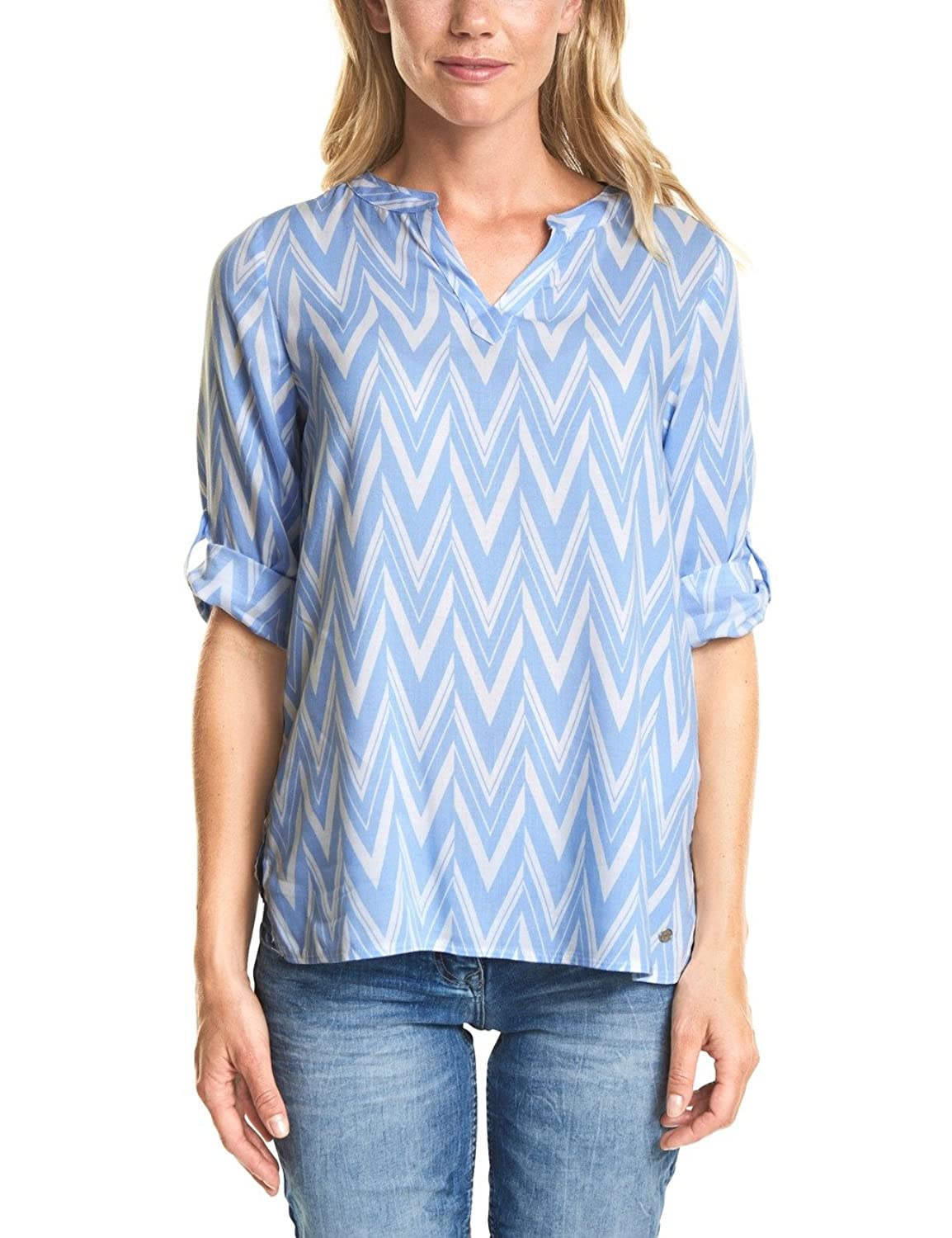 Cecil 341040, Blouse Femme, Blau (Powder Blue 21389), Medium (Taille du Fabricant: Medium)