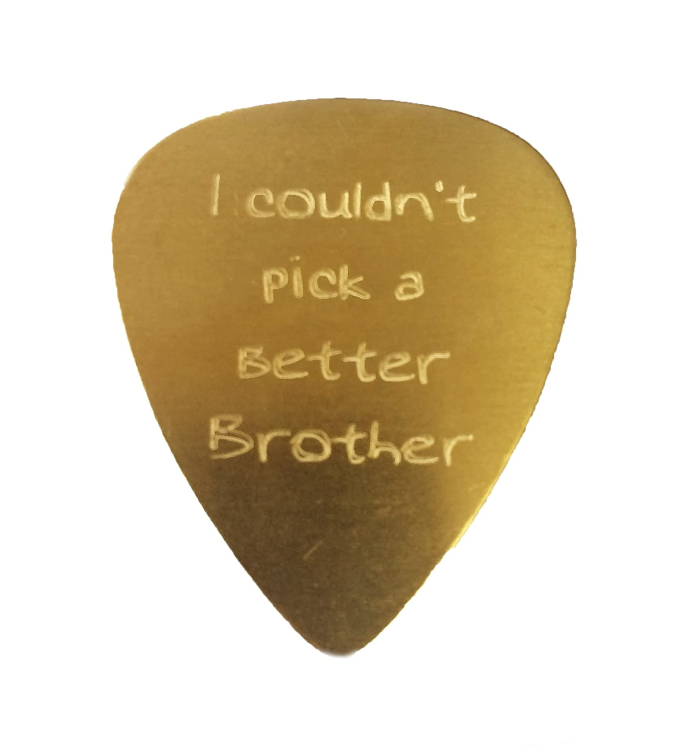 I Couldnt Pick a Better Valentine Engraved Text Guitar and Bass Pick Gift COPPER