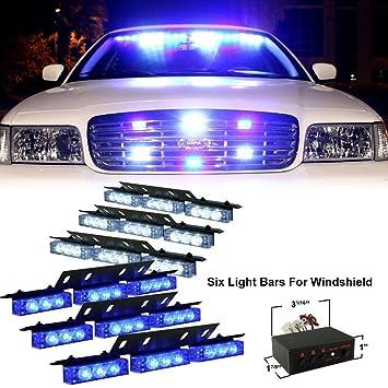 Anzene Luz LED de 54 luces estroboscópicas intermitentes ...