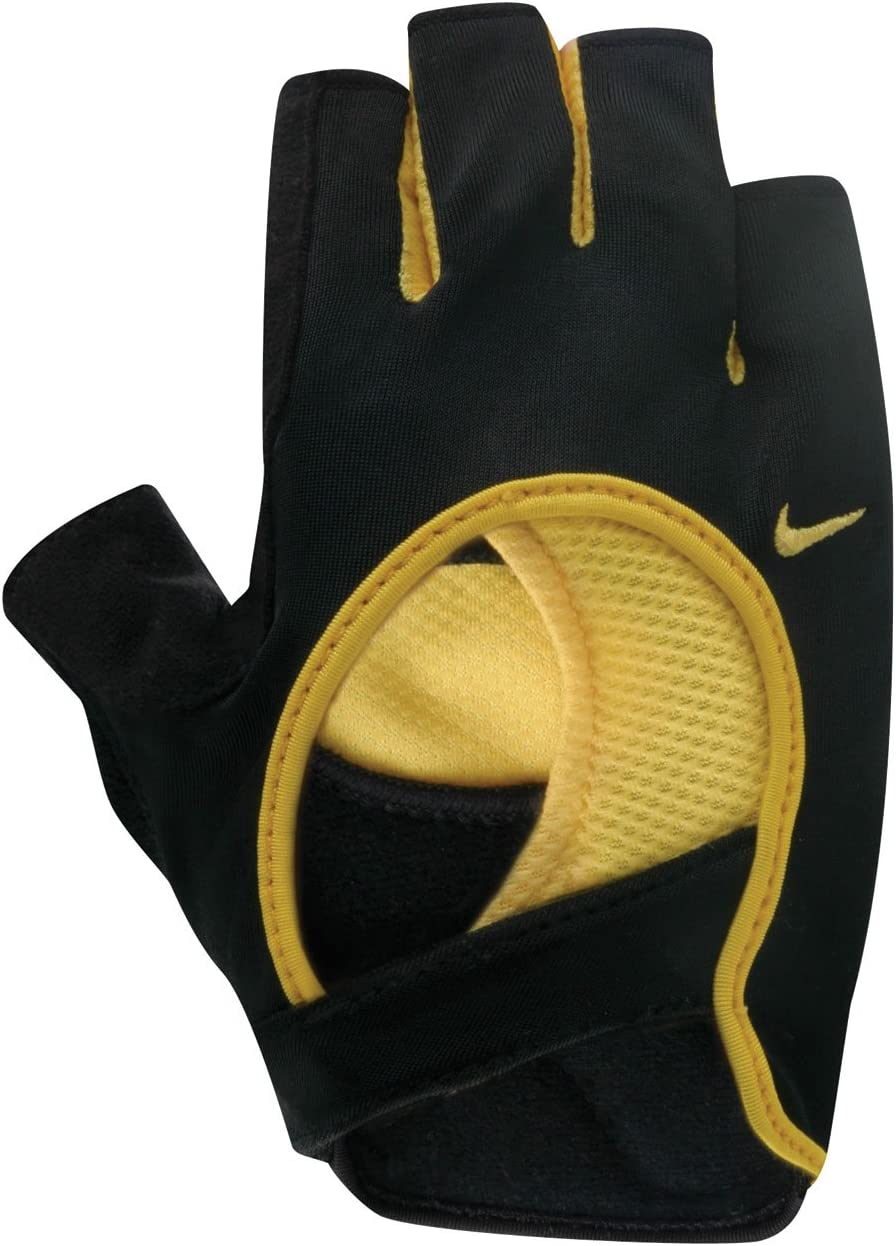 Integral Prohibir clima  Amazon.com : Nike Women's Fit Cycling Gloves (Black/Varsity Maize, Small) :  Sports & Outdoors