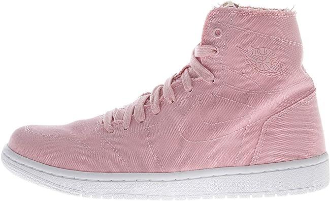 AIR JORDAN Jordan 1 Retro HIGH Decon Mens Basketball-Shoes (9.5 D(M) US, Sheen/White-Vachetta Tan)