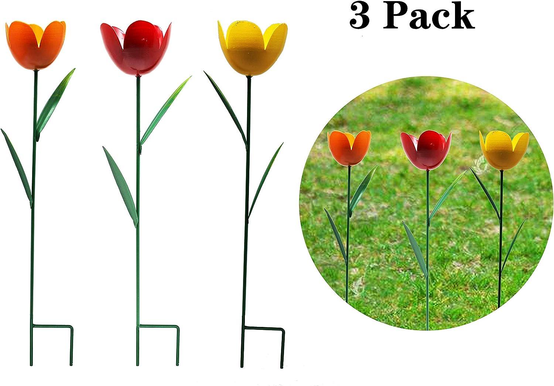 Amazon.com: YOUKOOD Metal Tulip Garden Stake Set of 6, Indoor