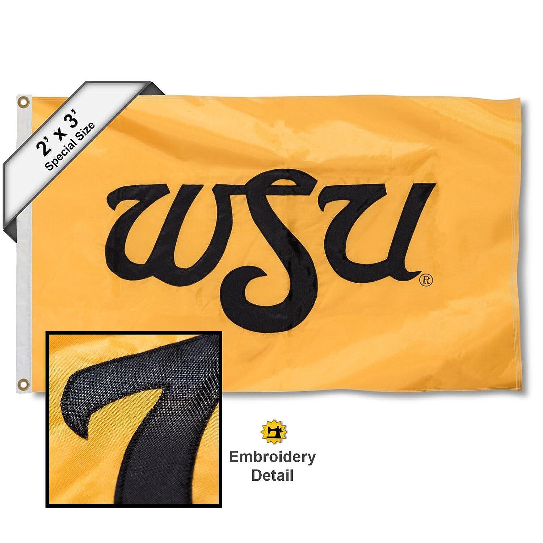 Wichita State Shockers 2 x 3足刺繍フラグ   B01FI738QW