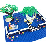 Brick Building Blocks Dream Town City Garden Flowers Plants and Trees Floor Fence Pieces Building Sets for Lego Tree Houses Parts Education Toy