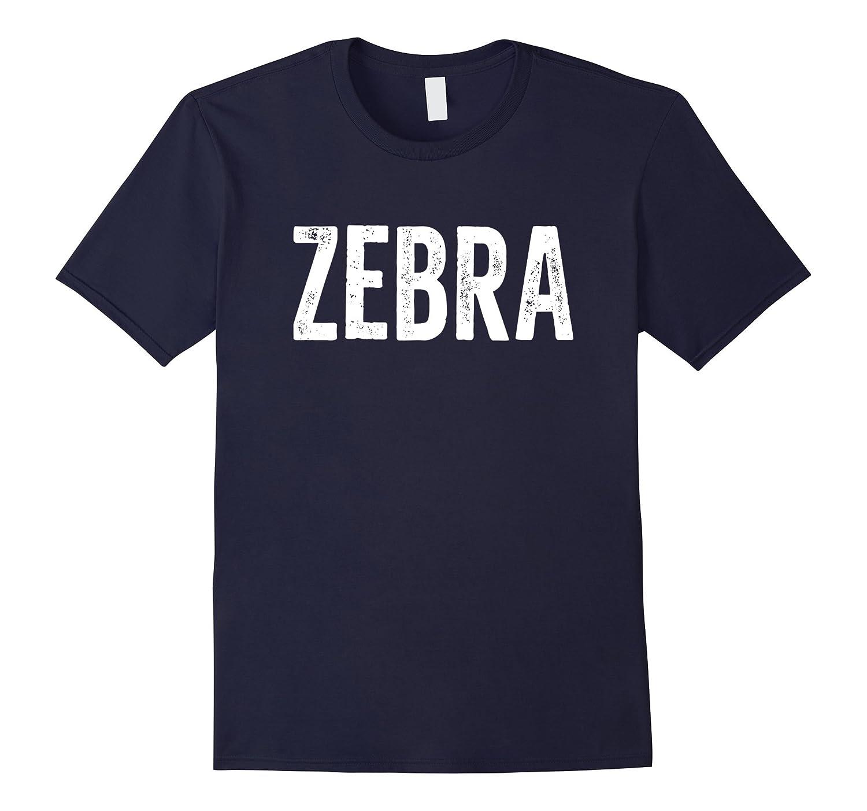 ZEBRA T-Shirt Animal Word Distressed Retro Design-TH
