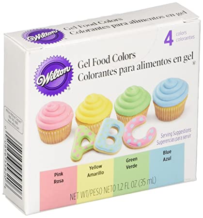 Amazon.com: Wilton Gel Food Color Set, Primary: Kitchen & Dining