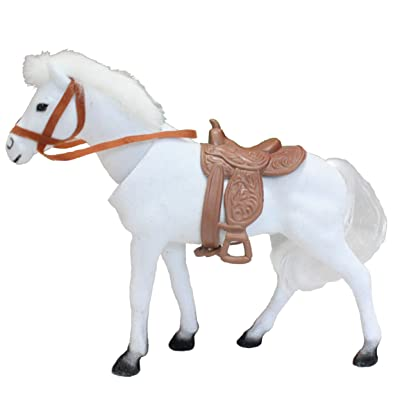 Batty Bargains Majestic Bobblehead Horse with Dashboard Adhesive (White): Toys & Games