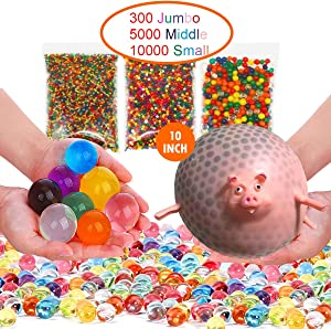 Non Toxic Water Beads for Kids,Make Your Own Animal Sensory/Stress Balls Kit Included,Kids Craft Kit, Water Table Toys Sensory Toys and Decoration