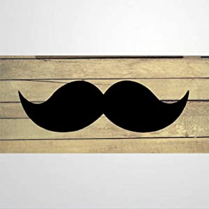 EricauBird Mustache Wood Craft,Unfinished Wooden Cutout Art,Inspirational Farmhouse Wall Plaque,Rustic Home Decor for Living Room,Nursery,Bedroom,Porch,Gallery Wall