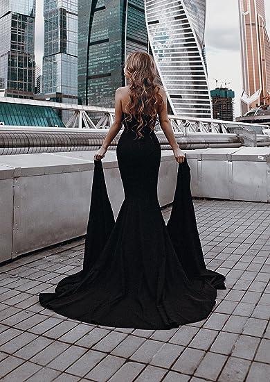 Strapless Evening Maxi Dress