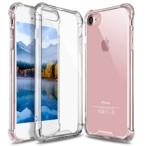 size 40 a46a5 9951b Amazon.com: GeekZone iPhone 7 Case, Clear iPhone 8 Case, Crystal ...