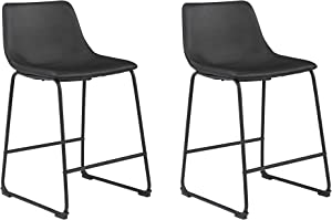Signature Design by Ashley Centiar Counter Height Bar Stool, Black