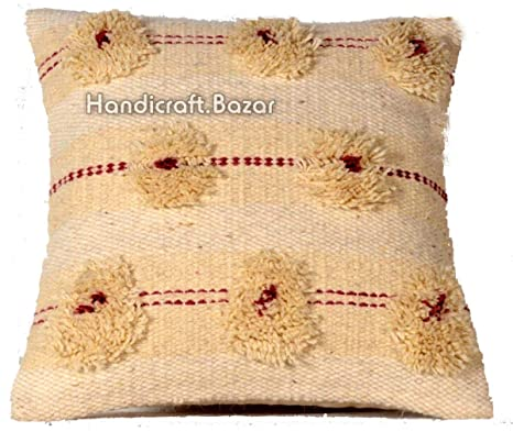 Handicraft Bazar Juego de 3 Fundas de cojín de Lana para ...