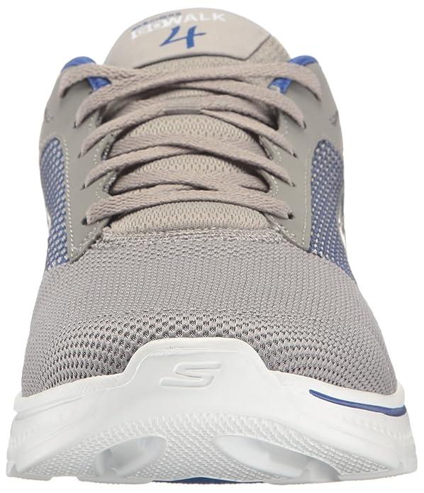 Skechers 54156 - Zapatillas de Material Sintético Hombre, Color Gris, Talla 41 EU