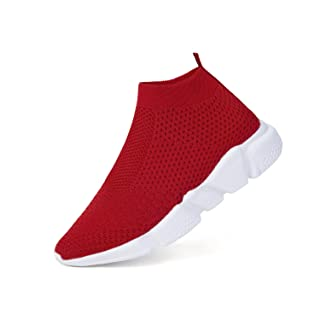 WXQ Women's Running Lightweight Breathable Casual Sports Shoes Fashion Sneakers Walking Shoes Red 40