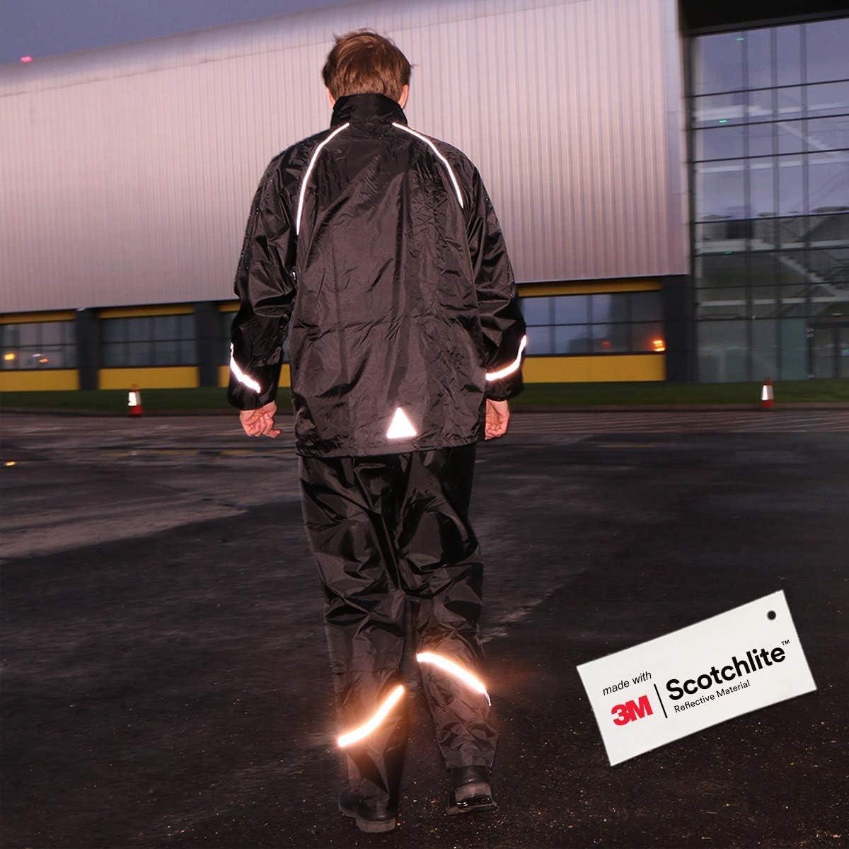 Reflective Rainsuit made with 3M Scotchlite Salzmann 3M Waterproof