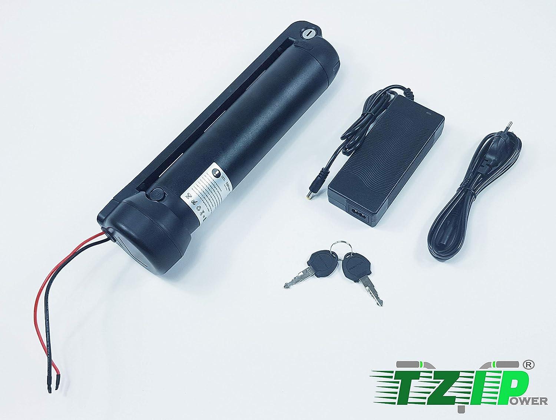 TZIPower 36V 7AH Samsung Zellen Trinkflaschenakku E-Bike Akku E Bike Elektrofahrrad Lithium Ionen Rahmenakku Umbausatz