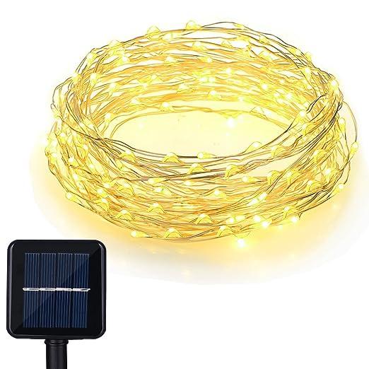 20 opinioni per Catena Luminosa, Litom 100 LED Catene Luci Solari Luce Natalizia Impermeabile di