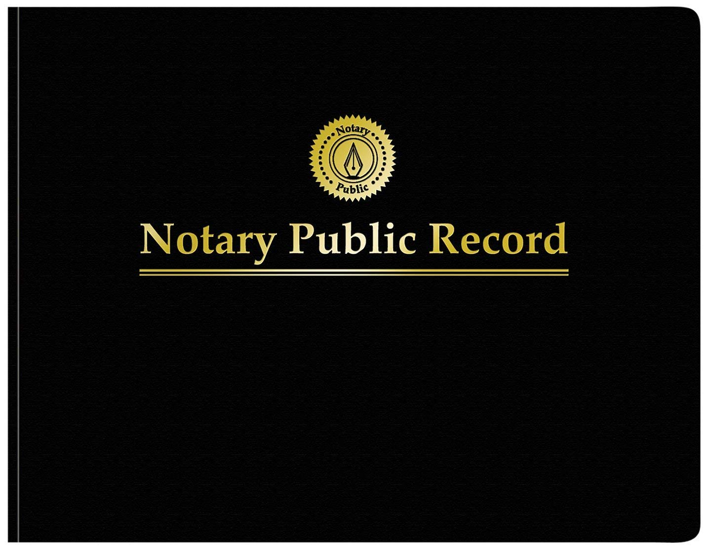Adams Notary Public Record Journal, 11 x 8.5 inches, 6 Entries per Page, 63 Pages per Book, Black (AFR90) (2 Pack)