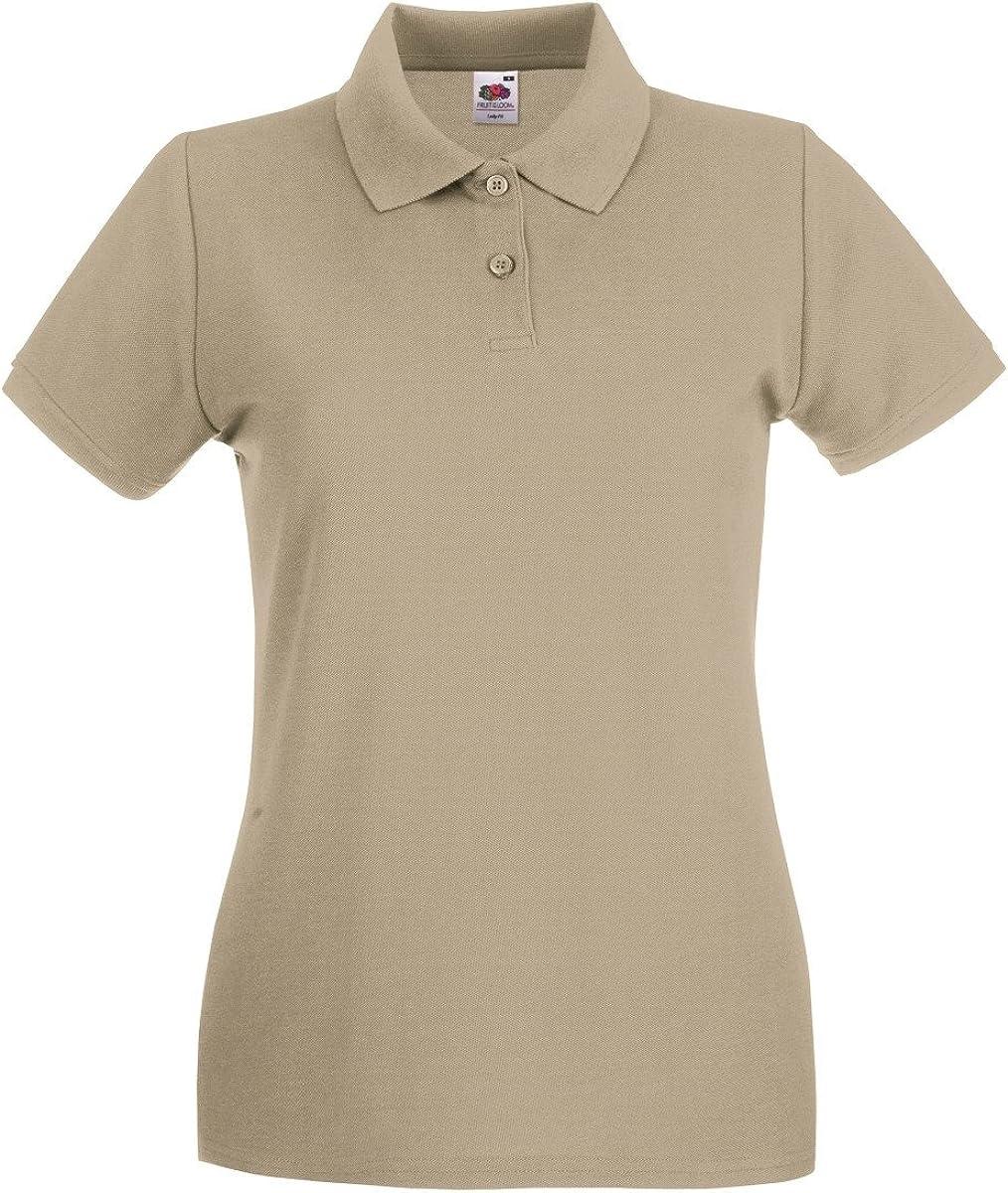 Fruit of the Loom Womens Polo Shirt Short-Sleeve Womens Men Azure Blue Medium