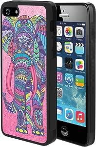 Amazon.com: iPhone 5s 5 SE Case, Mandala Elephant Shock ...Iphone 5s Rubber Bumper