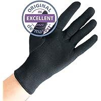 Dermatest: Excelente - Well B4® Care Guantes de algodón negro, guantes de hilo hechos de 100% algodón para su protección…