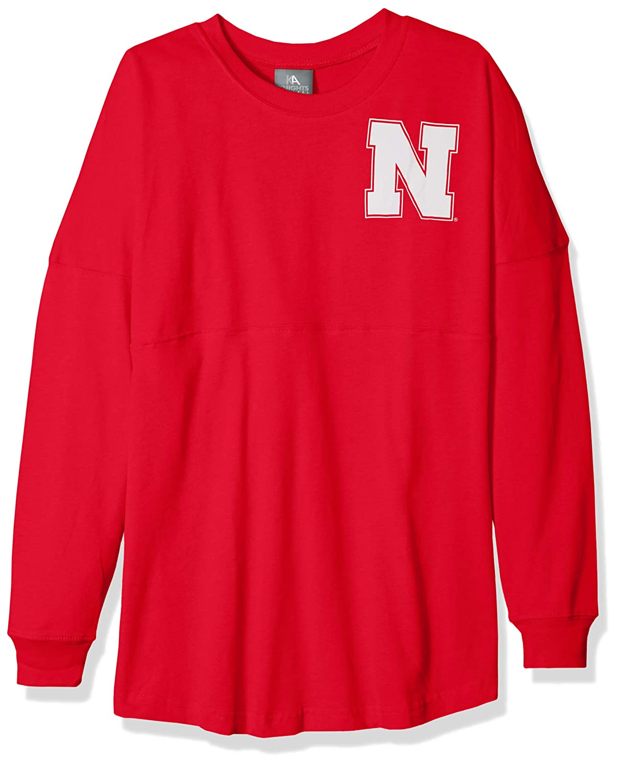 NCAA Nebraska Cornhuskers Womens NCAA Womens Long Sleeve Mascot Style Teeknights Apparel NCAA Womens Long Sleeve Mascot Style Tee Large Athletic Red
