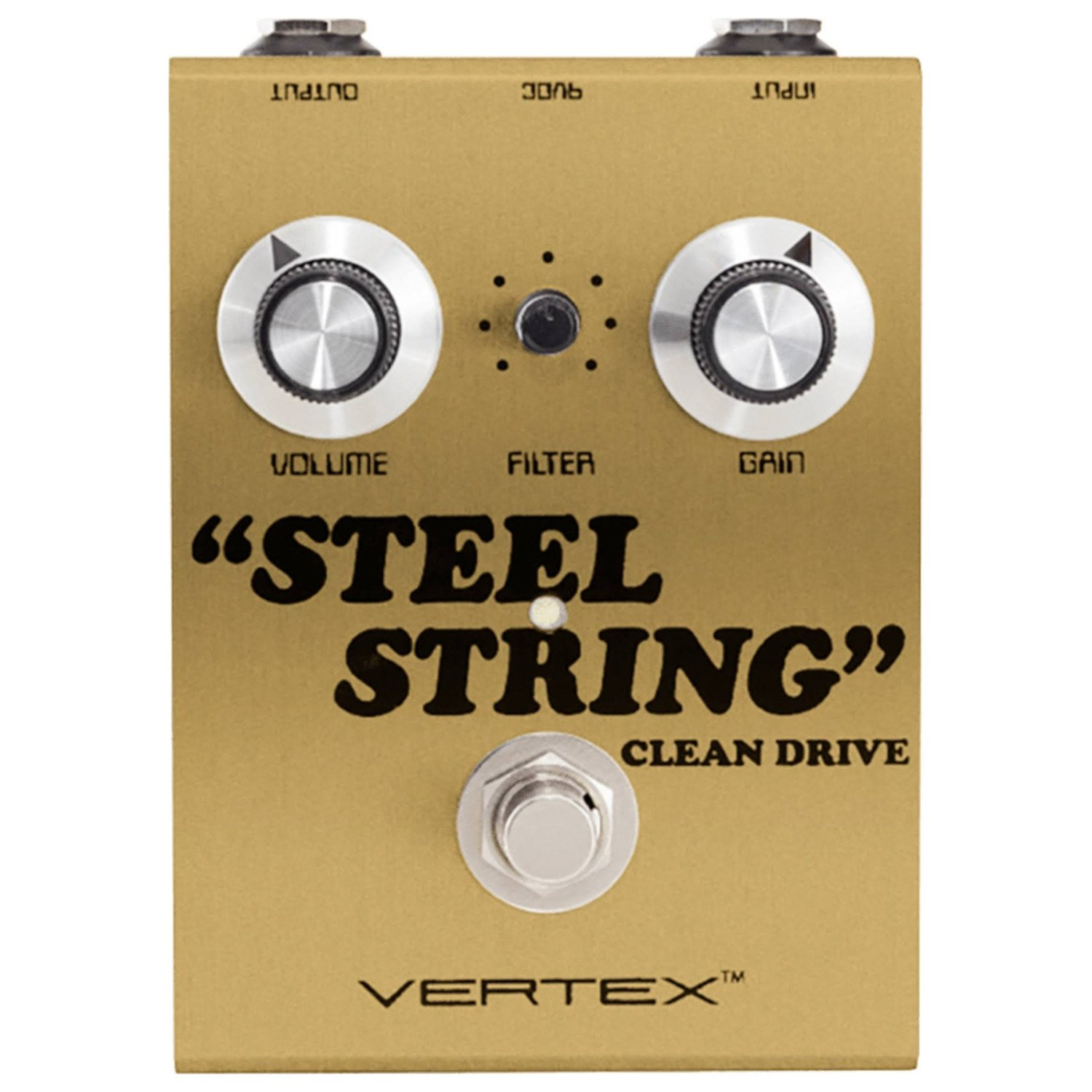 Vertex Steel String Clean Drive Pedal Gold Limited Edition