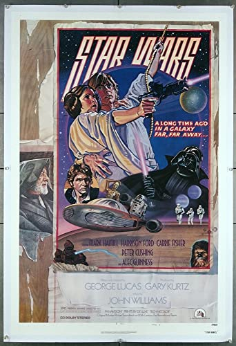 Amazon Com Star Wars Episode Iv A New Hope 1977 Original U S One Sheet Style D Movie Poster Mark Hamill Carrie Fisher Harrison Ford Film Directed By George Lucas Entertainment Collectibles