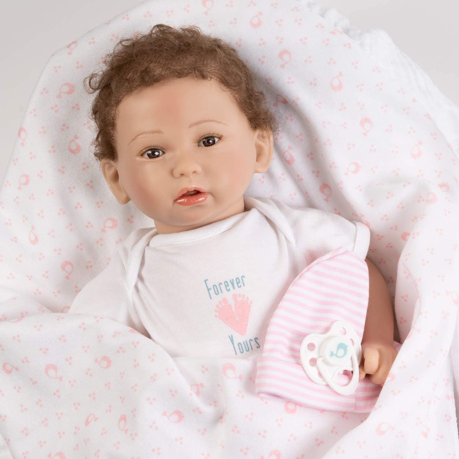 Forever Yours Treasure 7-Piece Reborn Doll Gift Set with Magnetic Pacifier Paradise Galleries Realistic Newborn Doll