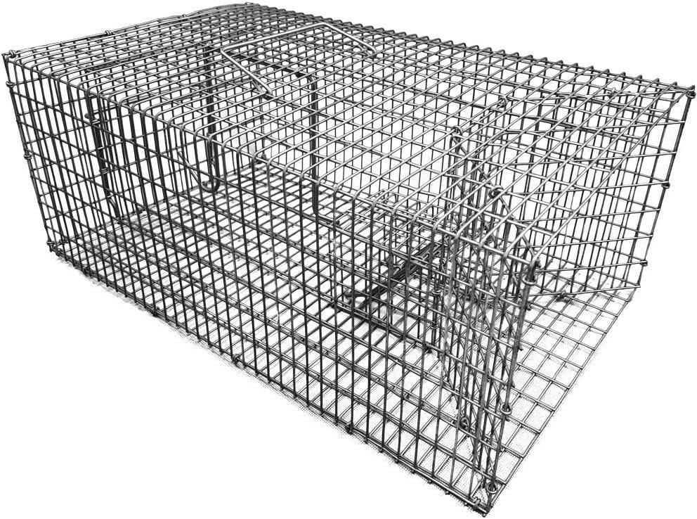 PROHEIM capturar Animales Vivos de 46 cm-Trampa para la Captura múltiple de Ratas u Otro Tipo de roedores, Blanco