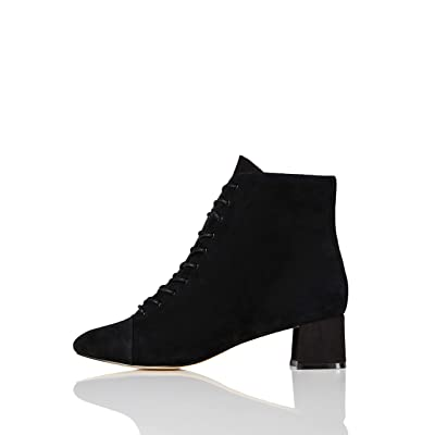 Amazon Brand - find. Lace Up Block, Women's Ankle boots: Shoes