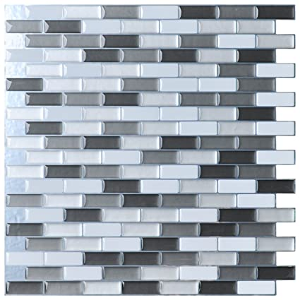 Amazoncom Art3d Peel And Stick Wall Tile For Kitchenbathroom