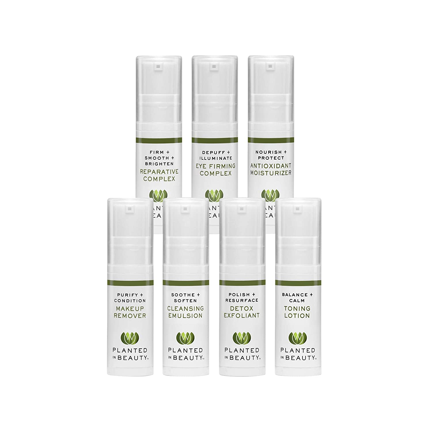 645d708e0d82 Organic Skin Care Travel Kit - Luxury Natural Face Cleansing Oil, Wash,  Exfoliator, Toner,...