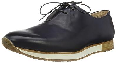 Neosens S496 Restored Skin Greco, Zapatos de Cordones Oxford para Hombre, Azul (Midnight), 44 EU