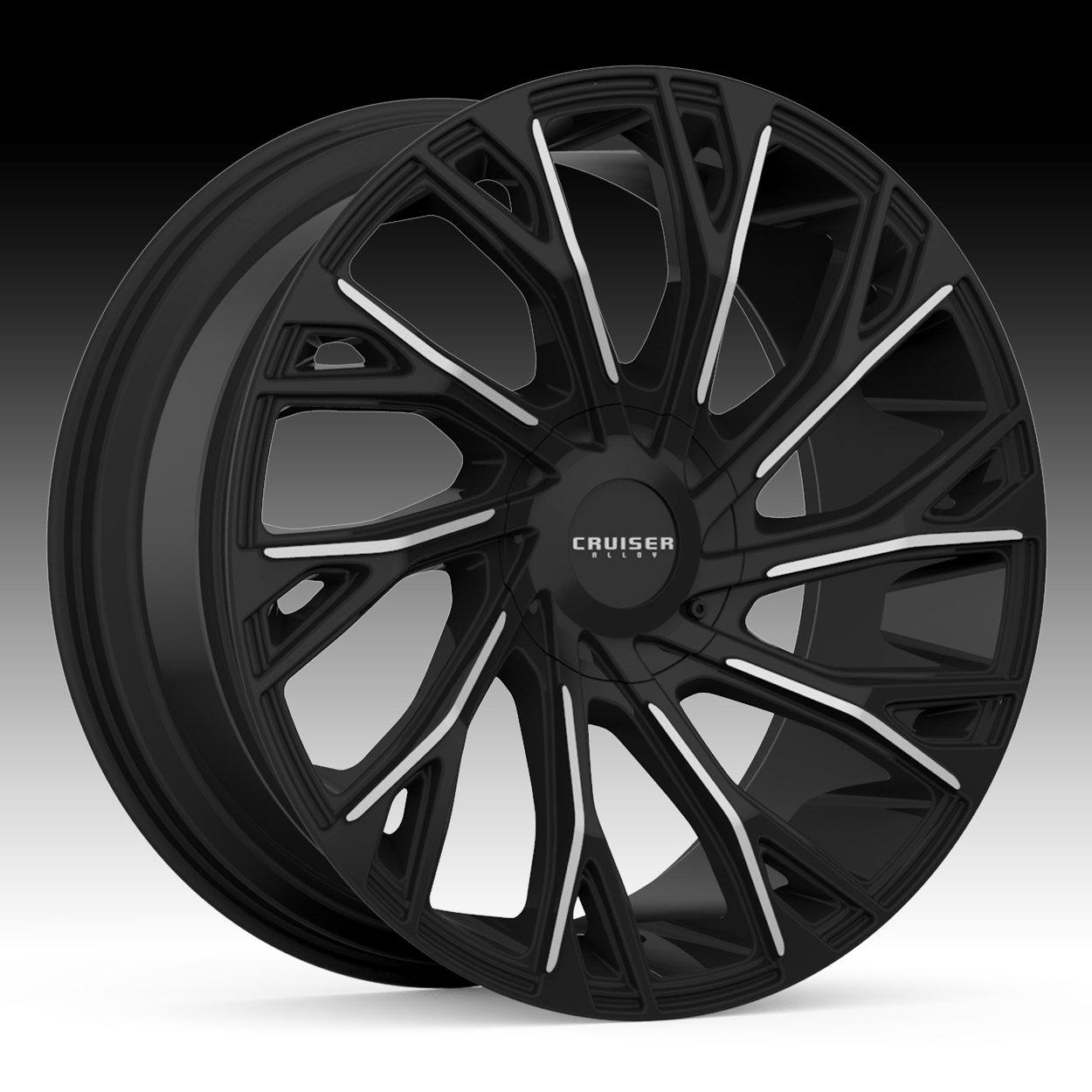 Cruiser Alloy 925MB Cutter 22x9.5 5x115/5x139.7 +15mm Black/Machined Wheel Rim