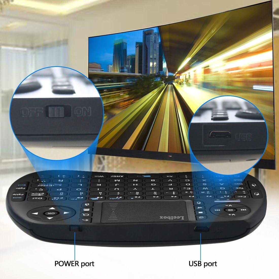 Leelbox Mini Teclado Inalámbrico con Touchpad 2.4GHz Mini Keyboard ...