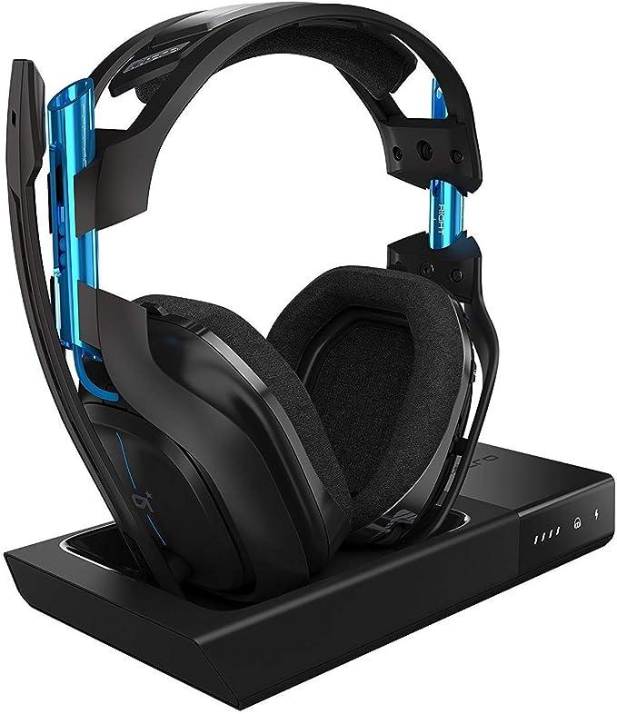 ASTRO Gaming A50 - Auriculares con micrófono inalámbricos y Estación base, Tercera generación con sonido envolvente Dolby 7.1, compatibles con PlayStation 4/PC/Mac, Negro y Azul: Amazon.es: Electrónica