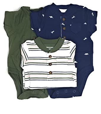 Trustful 0-3 Carters Blue Dinosaur Short Sleeve Bodysuit Boys In Many Styles Boys' Clothing (newborn-5t)