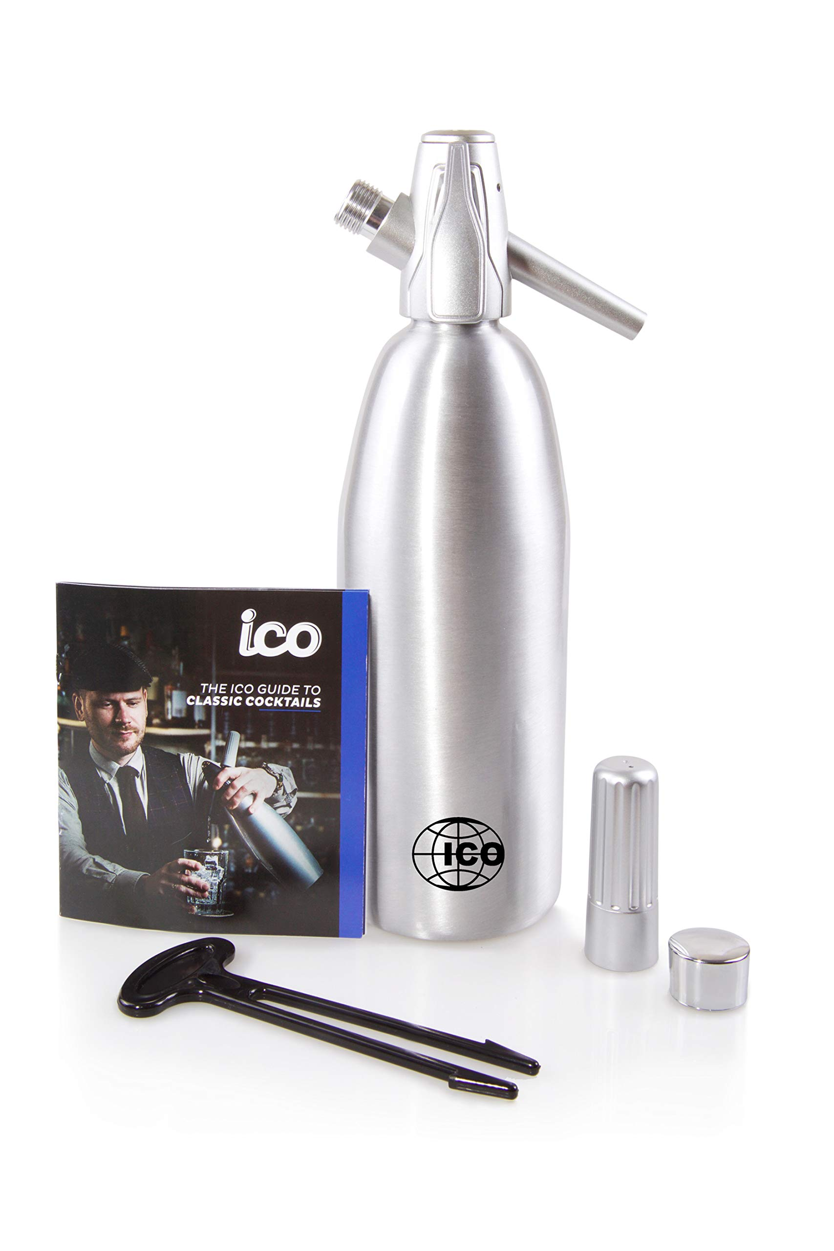 Impeccable Culinary Objects (ICO) ICO011 Soda siphon, 1L/1Pint, Silver