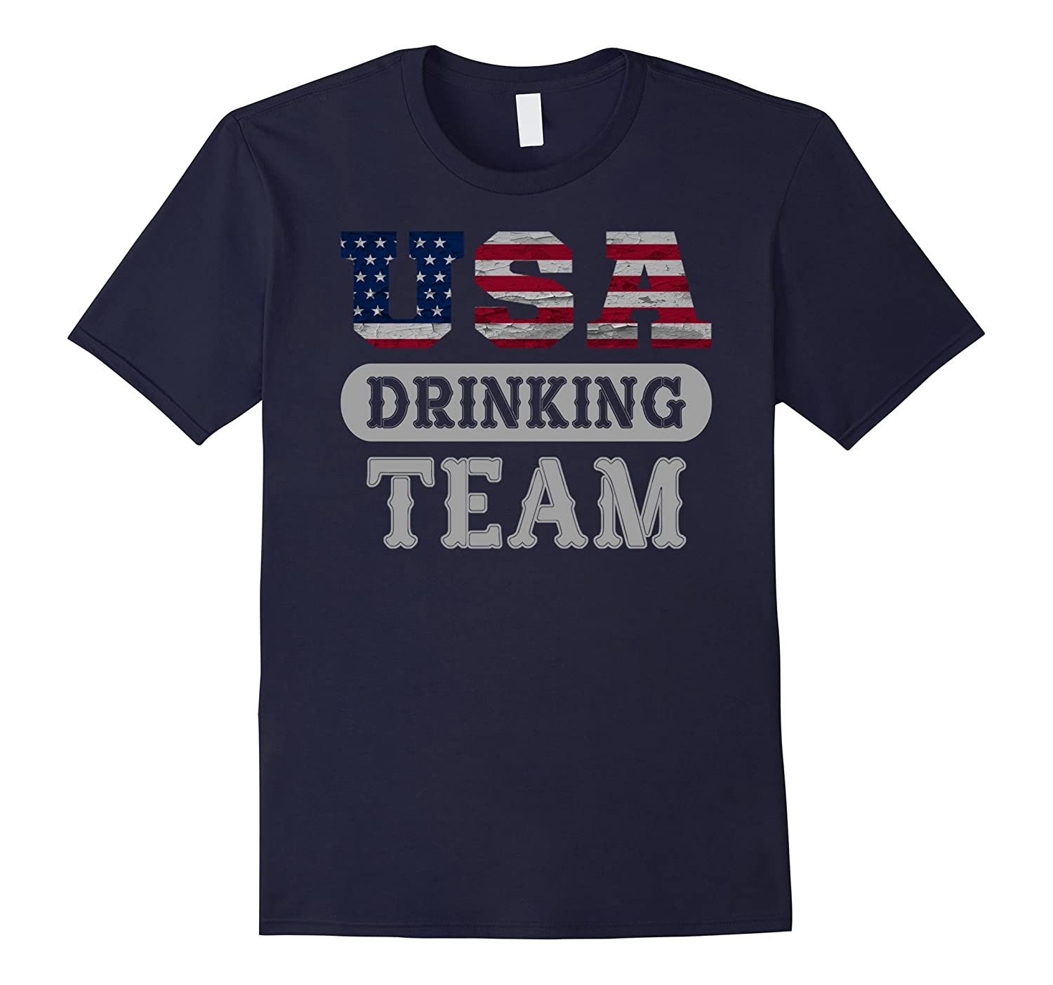 USA Drinking Team T-Shirt - Sport Games - Unisex sleeve-BN