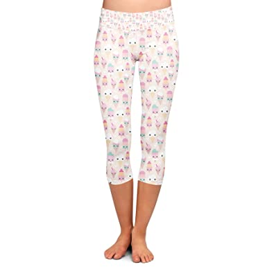 1494303a5a476 Image Unavailable. Image not available for. Color: Kawaii Icecream Yoga  Leggings ...